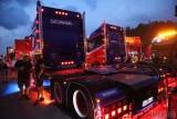 Pokaz świateł Master Truck of Light 2021 pod Opolem. Oświetlenie najpiękniejszych ciężarówek tegorocznego zlotu