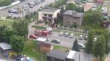 Wybuch gazu w budce z kurczakami w Rybniku. Właścicielka w ciężkim stanie. Lądował LPR
