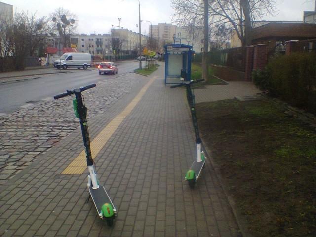 Hulajnogi elektryczne na ulicach Bydgoszczy