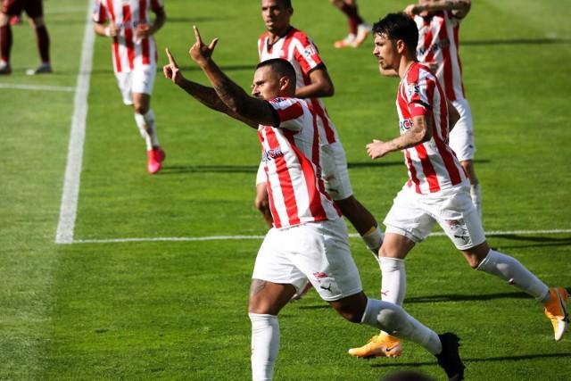Marcos Alvarez strzelił gola w meczu Cracovia - Pogoń Szczecin