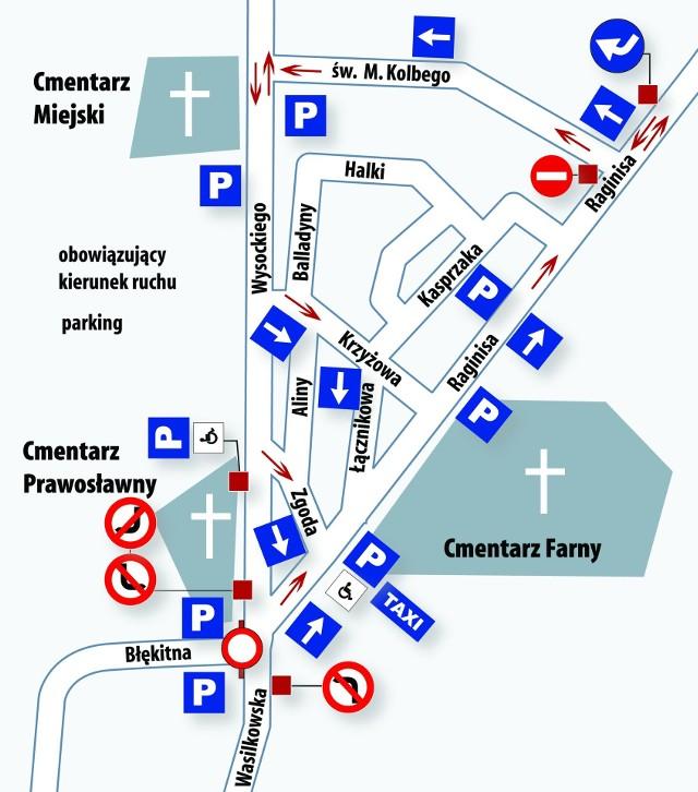Wszystkich świętych: Organizacja ruchu 1 listopada. Rozkład jazdy autobusów, objazdy [MAPA]