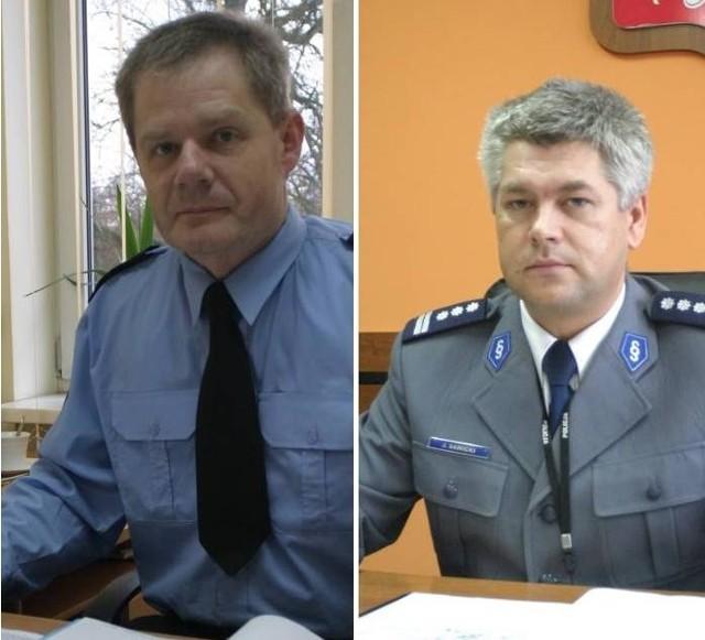 Zastępca komendanta gorzowskiej straży miejskiej, Andrzej Jasiński (z lewej) i komendant gorzowskiej policji Jarosław Sawicki (z prawej) zapewniają, że mapa niebezpiecznych miejsc jest wykorzystywana do planowania codziennych patroli mundurowych.