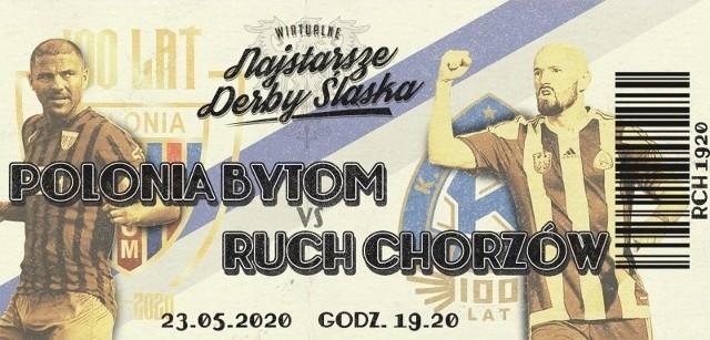 Wirtualne Najstarsze Derby Śląska odbędą się 23 maja. Bilety na mecz Polonia Bytom - Ruch Chorzów są już w sprzedaży. Zobacz kolejne zdjęcia. Przesuwaj zdjęcia w prawo - naciśnij strzałkę lub przycisk NASTĘPNE