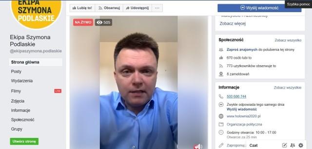 Szymon Hołownia, kandydat na prezydenta Polski spotkał się z wyborcami wirtualnie 30.03.2020