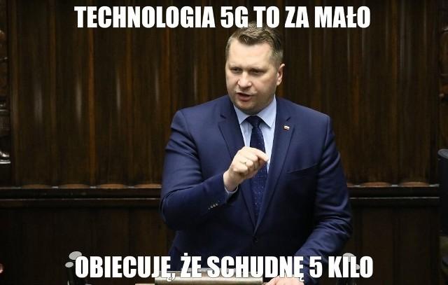 Przemysław Czarnek obiecał, że schudnie 5 kilogramów. Internet odpowiada memami