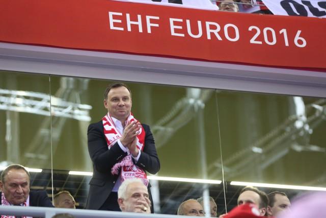 Andrzej Duda oglądał mecz Polska - Irlandia Północna w Nicei