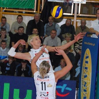 Marlena Mieszała (w ataku, wystawia Lucie Muhlsteinova)przed sezonem miała propozycję gry w Gedanii.