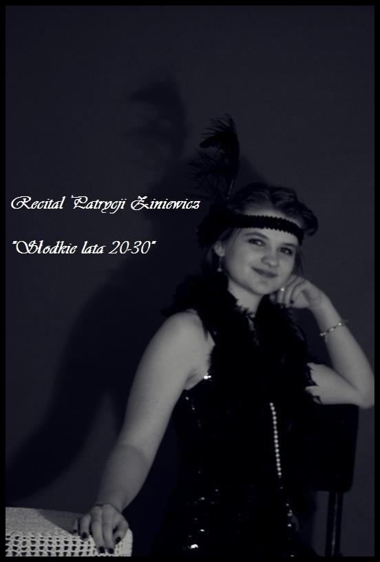Plakat promujący koncert Patrycji Ziniewicz