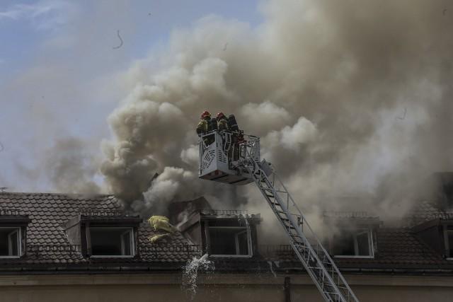 Pożar kamienicy przy ul. Rajskiej