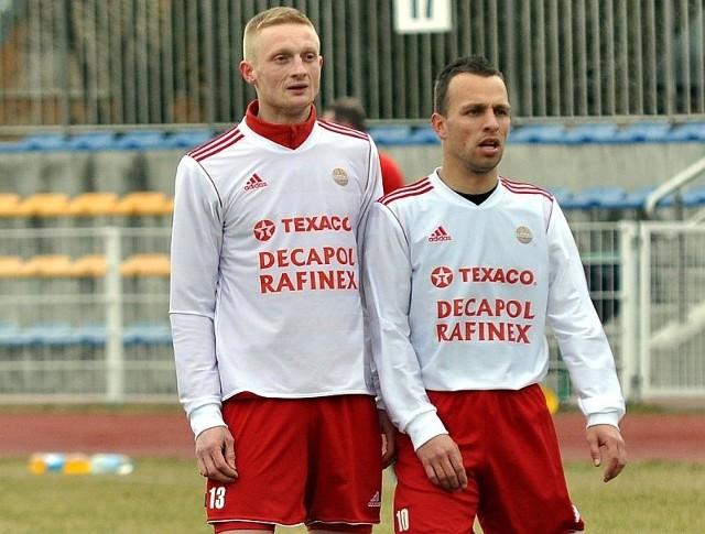 Michał Łysek i Mateusz Sadyk - piłkarze kędzierzyńskiego Chemika.
