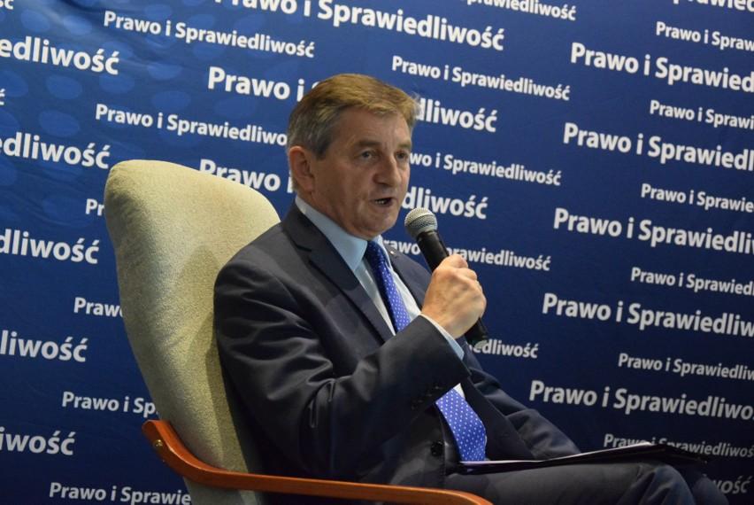 Marszałek Sejmu Marek Kuchciński w Łęczycy