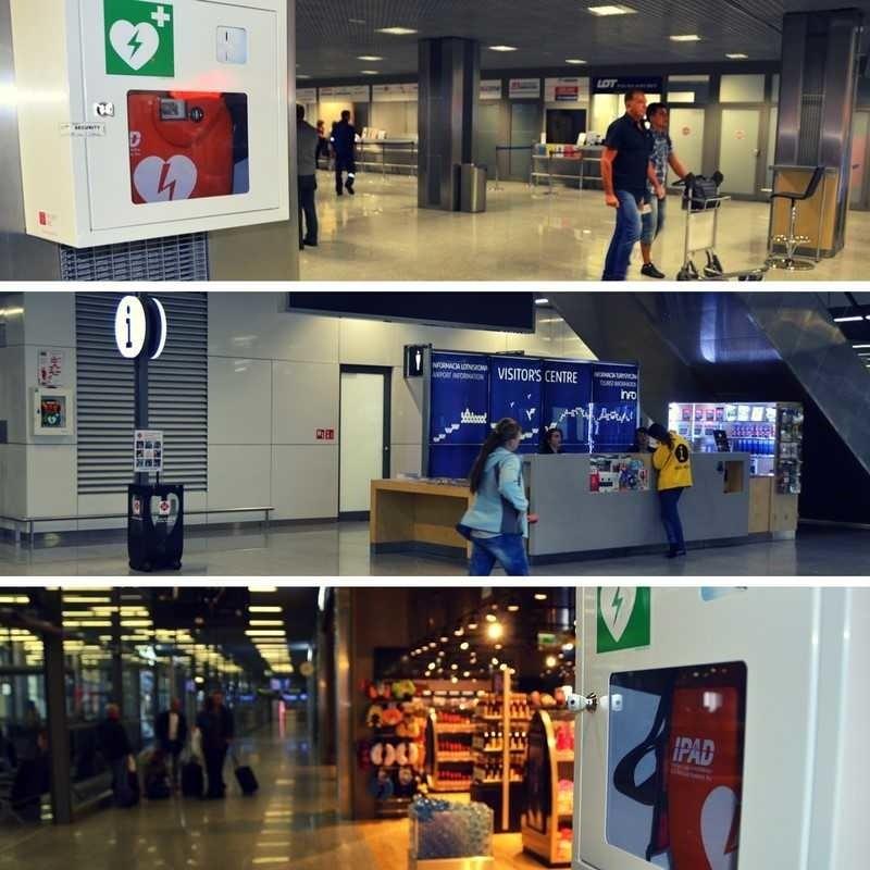 Pracownik Kraków Airport uratował życie pasażera, użyto AED