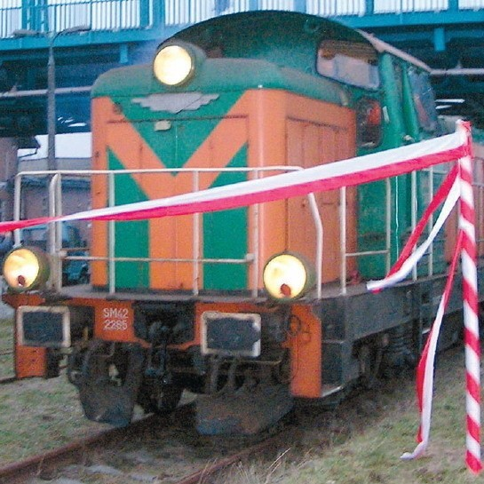 Pierwszy kolejowy skład towarowy w Bytowie po kilkuletniej przerwie