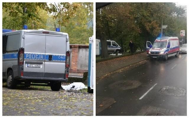Makabryczne odkrycie w parku Sienkiewicza we Włocławku. W okolicach przenośnych toalet znaleziono ciało mężczyzny.