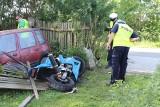 Tragiczny wypadek w miejscowości Olek. Nie żyje motocyklista [zdjęcia]