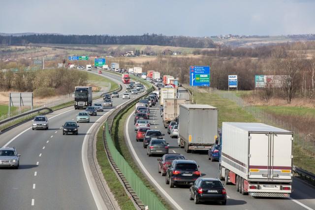 Autostrada A4 w Krakowie.Zobacz kolejne zdjęcia. Przesuwaj zdjęcia w prawo - naciśnij strzałkę lub przycisk NASTĘPNE