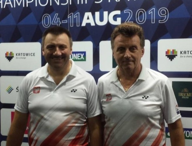 Adam Bunio (z prawej) wciąż jest we władzach Podkarpackiego Związku Badmintona