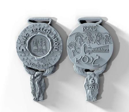 Takie medale otrzymały dzieci, które wzięły udział w biegu