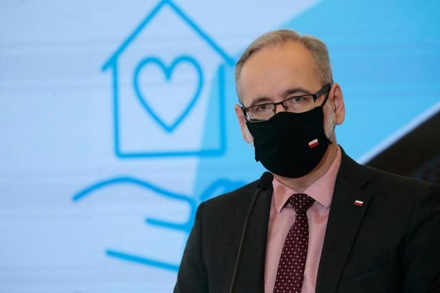 Minister zdrowia Adam Niedzielski o obostrzeniach po 18 stycznia 2021.