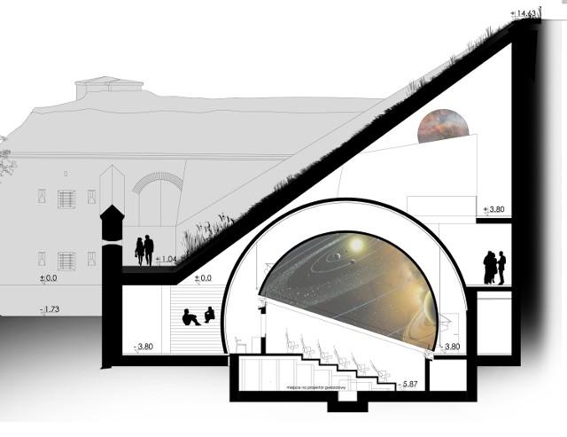 Pierwsze podziemne planetarium w Polsce zaprojektowali architekci z Wrocławia