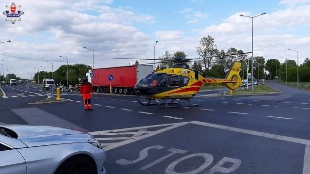 W sobotę popołudniu doszło do poważnego wypadku z udziałem rowerzysty