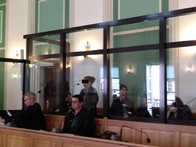 Katarzyna K. na sali rozpraw kieleckiego sądu
