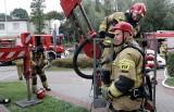 Wieżowiec w ogniu! Tak wyglądały ćwiczenia grudziądzkich strażaków na osiedlu Strzemięcin [zdjęcia]