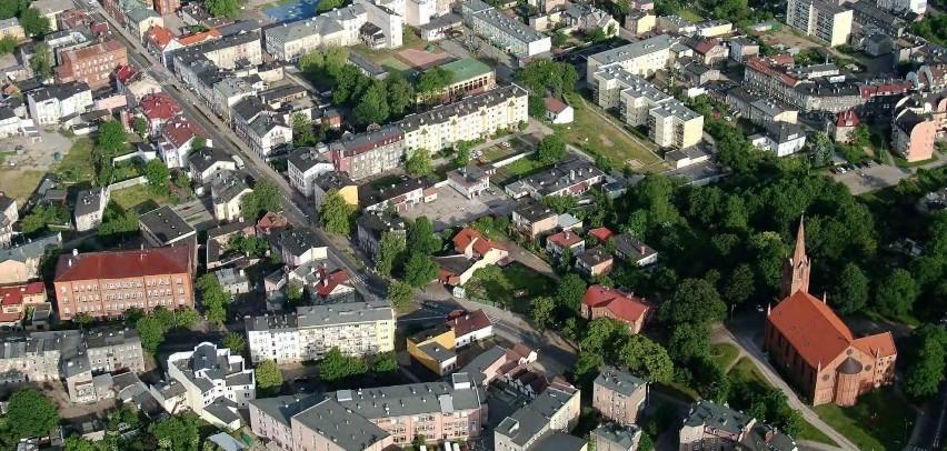 Rejon ul. Armii Krajowej w kierunku centrum Słupska