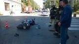 Wypadek na Nawrot. Merdeces uderzył w motocyklistę [zdjęcia]