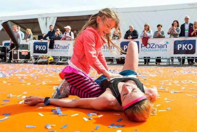 Dominika Nowakowska była na mecie w Poznaniu zmęczona, lecz szczęśliwa
