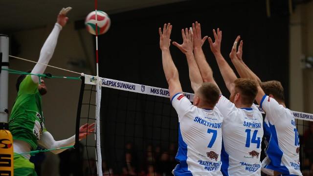 Siatkarze Ślepska Suwałki zajęli czwarte miejsce po rundzie zasadniczej I ligi