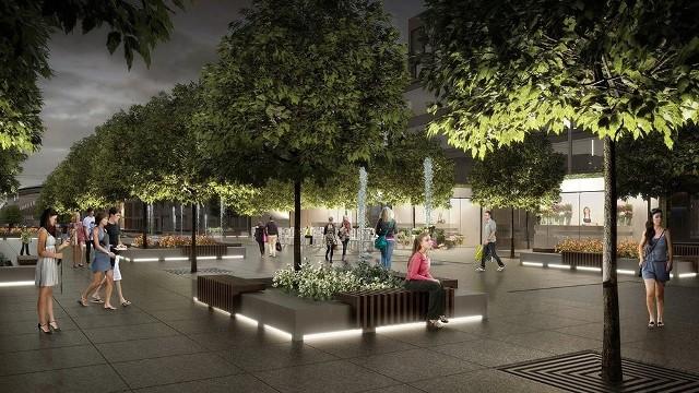 Przebudowa centrum Katowic - wizualizacje rynku