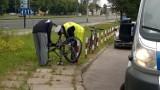 Dwa wypadki rowerzystów na Konstytucyjnej. Dwie osoby w szpitalu [ZDJĘCIA]