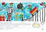 Dzieci projektowały grafiki na kartony białostockiej firmy DrTusz. Sprzedaż zapakowanych w nie produktów pomoże innym dzieciom