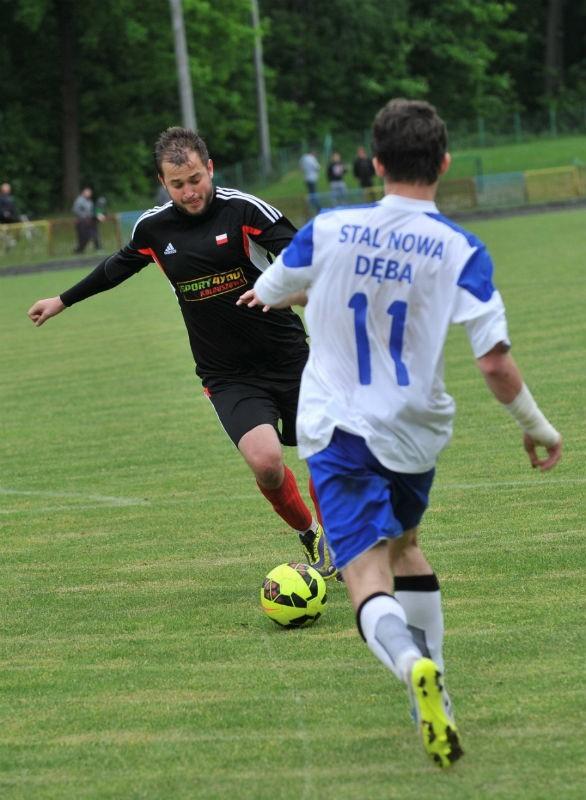 Nowy trener Kolbuszowianki chce, by Łukasz Korab (z piłką) został w zespole.