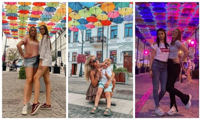 Parasolki nad Kilińskiego w Białymstoku przyciągają mieszkańców. Zobacz selfie z parasolkami