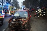 Poważny wypadek koło Lubuczewa. Cztery osoby w szpitalu [zdjęcia]
