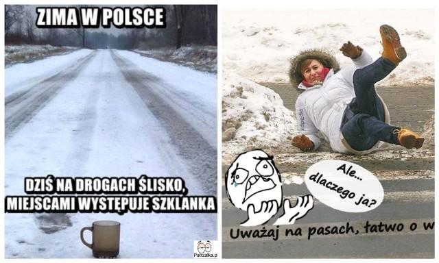 Najśmieszniejsze memy o lodzie, ślizgawicy, oblodzeniu i szklance na ulicy