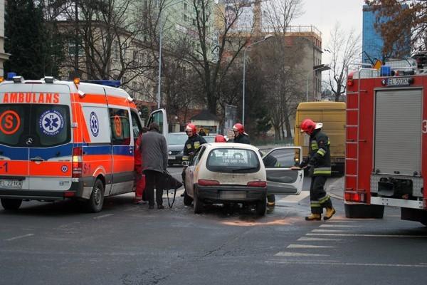 Wypadek na skrzyżowaniu ul. Sienkiewicza i Wigury.