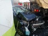 Trzy samochody zderzyły się na S3 koło Świebodzina. Nie żyje jedna osoba