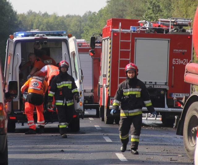 Wypadek na DK 94, na obwodnicy Środy Śląskiej. Zdjęcie ilustracyjne