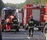 Karambol na drodze krajowej nr 94. Jedna osoba ranna, trasa była zablokowana