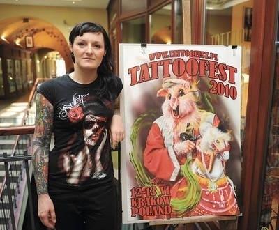 Aleksandra Skoczylas lubi swoje tatuaże Fot. Michał Klag