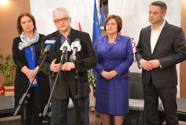 Małgorzata Kidawa-Błońska, Włodzimierz Cimoszewicz, Renata Buytyn i Tomasz Cimoszewicz