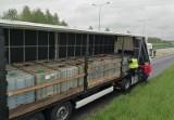 22 tysiące litrów paliwa wiozła ciężarówka zatrzymana na autostradzie A4