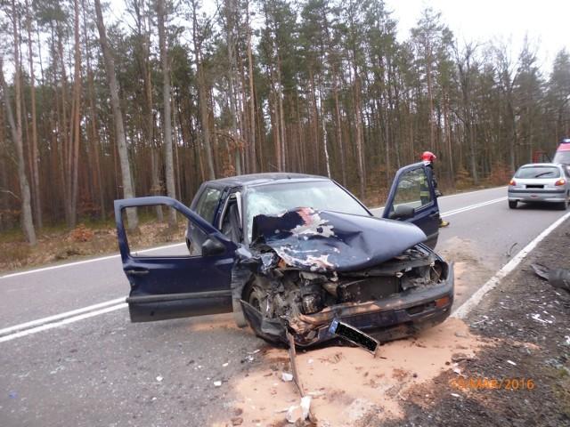 W czwartek 10 marca doszło do zderzenia trzech aut osobowych na drodze krajowej nr 55 między Kwidzynem a Malborkiem