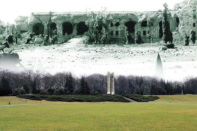 Podczas walk w lutym 1945 najbardziej ucierpiały koszary - kruszono je ogniem na wprost z haubic kalibru 203 mm. Dzisiaj, w miejscu, gdzie się znajdowały, na łące przed Dzwonem Pokoju odbywa się inscenizacja walk o Poznań