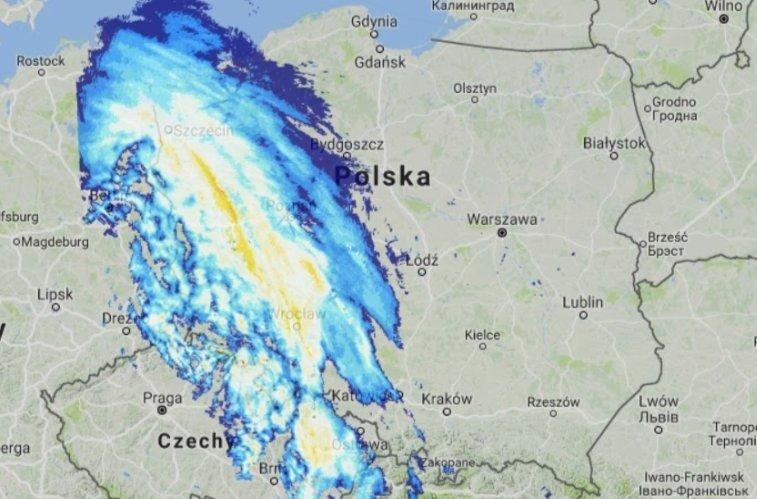 Orkan Fryderyka Dotarl Do Polski Mapa Wiatru Orkan Friederike W