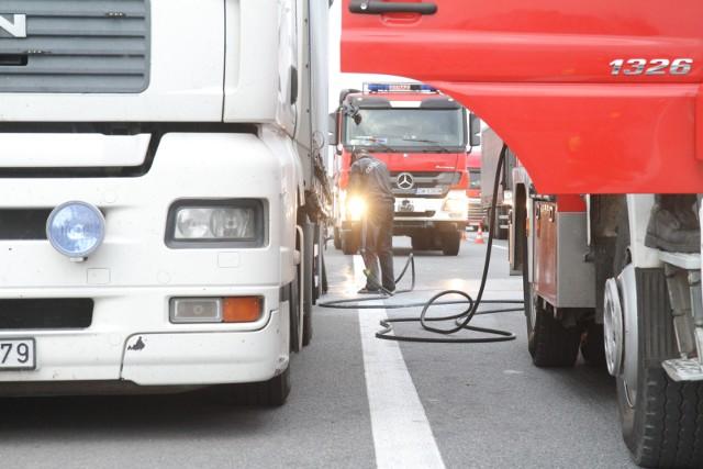 Do zdarzenia z udziałem auta ciężarowego doszło przed południem w sobotę, 12 czerwca, na obwodnicy Świecia