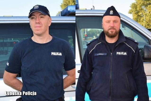 starszy sierżant Tomasz Damas i starszy sierżant Łukasz Kabała